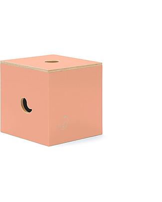 Cocò&Design Sedia e Box Contenitore Duccio, Rosa Pesca - 40x40x40 cm - Legno di pioppo null