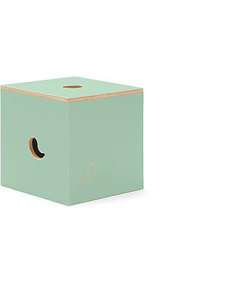 Cocò&Design Sedia e Box Contenitore Duccio, Verde Mela - 40x40x40 cm - Legno di pioppo Sedie