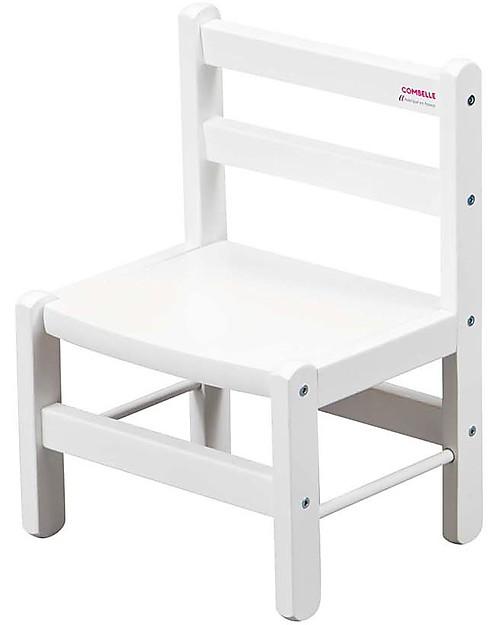 Sedie In Legno Da Colorare.Combelle Sedia Per Bambini In Legno Di Faggio Bianco Facilissima