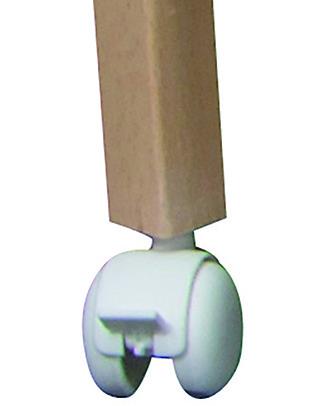 Combelle Set di 4 Ruote con Freno per Lettini Combelle, Bianco null