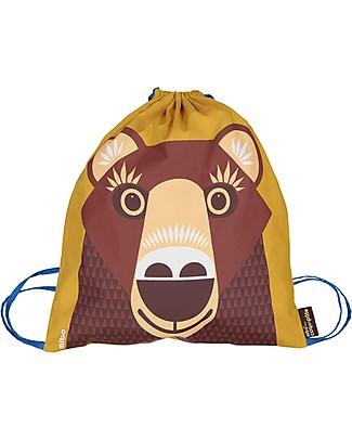 Coq en Pâte Brown Bear Kids Soft Backpack/Bag - 100% Organic Cotton (37 x 33 cm) Small Backpacks