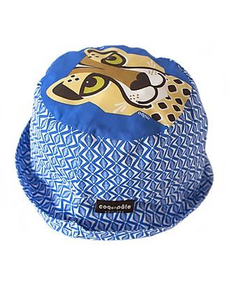 Coq en Pâte Cappellino Stampa Ghepardo, Blu - 100% Cotone Bio Cappelli Estivi