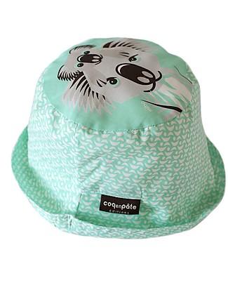 Coq en Pâte Cappellino Stampa Koala, Verde Acqua - 100% Cotone Bio Cappelli Estivi