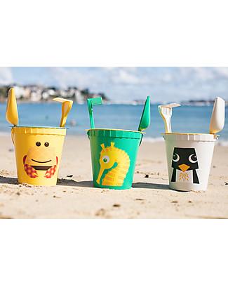 Coq en Pâte Set Giochi da Spiaggia - Cavalluccio Marino Verde Mela - 100% Algoblend® (alghe marine brune) Giochi Da Spiaggia