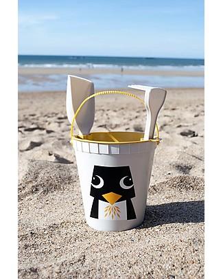 Coq en Pâte Set Giochi da Spiaggia - Pinguino Grigio - 100% Algoblend® (alghe marine brune) Giochi Da Spiaggia