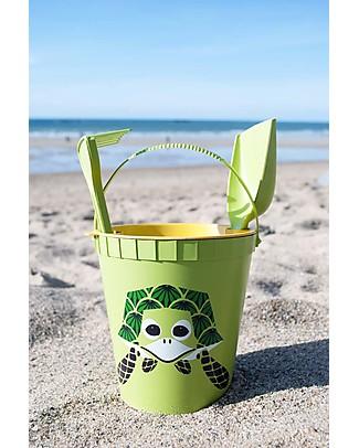 Coq en Pâte Set Giochi da Spiaggia - Tartaruga Verde - 100% Algoblend® (alghe marine brune) Giochi Da Spiaggia