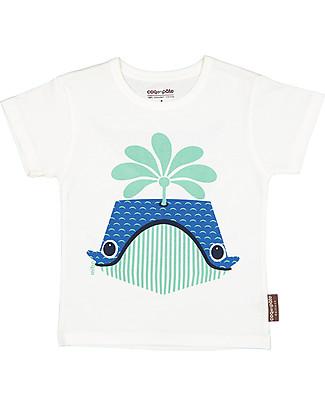 Coq en Pâte T-Shirt Balena, Bianca - 100% Cotone Bio T-Shirt e Canotte