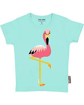 Coq en Pâte T-Shirt Fenicottero Rosa, Azzurro - 100% Cotone Bio T-Shirt e Canotte