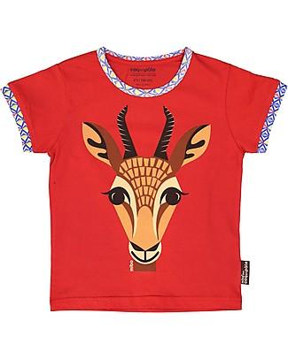 Coq en Pâte T-Shirt Gazzella, Rossa - 100% Cotone Bio T-Shirt e Canotte