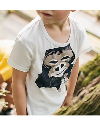 Coq en Pâte T-Shirt Gorilla, Bianco - 100% Cotone Bio T-Shirt e Canotte