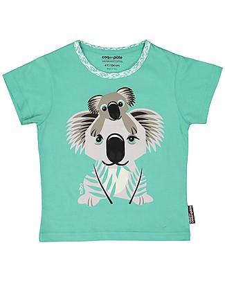Coq en Pâte T-Shirt Koala, Verde Acqua - 100% Cotone Bio T-Shirt e Canotte