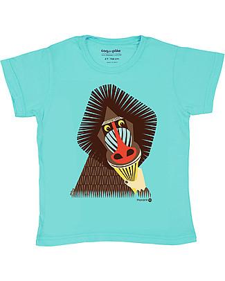 Coq en Pâte T-Shirt Mandrillo, Azzurro - 100% Cotone Bio T-Shirt e Canotte