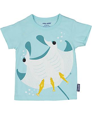 Coq en Pâte T-Shirt Manta, Azzurro - 100% Cotone Bio T-Shirt e Canotte