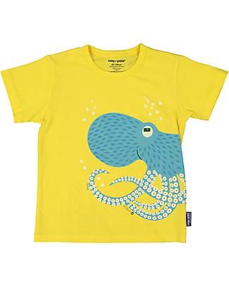 Coq en Pâte T-Shirt Polpo, Giallo - 100% Cotone Bio T-Shirt e Canotte