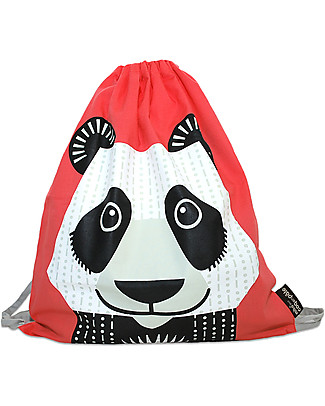 Coq en Pâte Zainetto Morbido Panda - 100% Cotone Bio - Perfetto per l'asilo! (37 x 33 cm) Zainetti