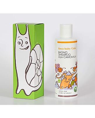 Cosm-Etica Bagno Shampoo alla Camomilla, Linea Baby Gaia Gift, 200 ml Bagno Doccia Shampoo