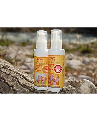 Cosm-Etica Crema Solare Bio Protezione 50+, 125 ml - Filtro di protezione naturale UVA/UVB Solari