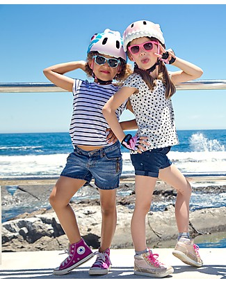 Crazy Safety Casco Bicicletta Bambina, Giraffa Blu - Colorato, Leggero e Indistruttibile! Biciclette