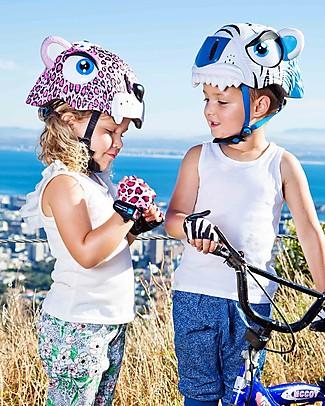 Crazy Safety Casco Bicicletta Bambina, Leopardo Rosa - Colorato, Leggero e Indistruttibile! Biciclette