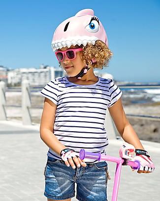 Crazy Safety Casco Bicicletta Bambina, Squalo Rosa - Colorato, Leggero e Indistruttibile! Biciclette