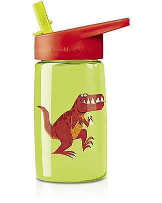 Crocodile Creek Borraccia per Bambini in Tritan 500 ml, T-Rex – Riciclabile e sicura! Borracce senza BPA