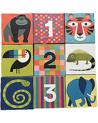Crocodile Creek Jumbo Puzzle a Blocchi, Tanti Meravigliosi Animali e Numeri! - 9 pezzi Puzzle