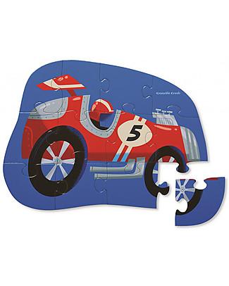 Crocodile Creek Mini-Puzzle Macchina da Corsa, 12 pezzi - Aiuta Coordinazione e Logica! Puzzle