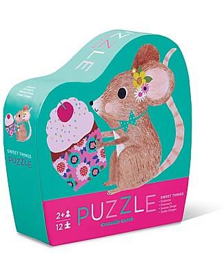 Crocodile Creek Mini-Puzzle, Sweet Things - 12 pezzi! Giochi Creativi