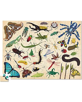 Crocodile Creek Puzzle 100 Pezzi in Tubo, 36 Insetti - Gioca e Impara i Nomi degli Insetti! Puzzle