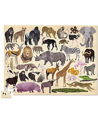 Crocodile Creek  Puzzle 100 Pezzi in Tubo con 36 Meravigliosi Animali Selvaggi! Puzzle