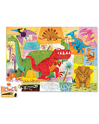 Crocodile Creek Puzzle 36 Pezzi, Dinosauri - Bellissima Scatola Illustrata e Fantastica Idea Regalo! Puzzle