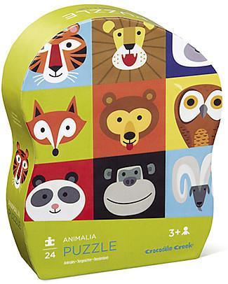 Crocodile Creek Puzzle Animalia, 24 pezzi - Tanti Simpatici Animali da Conoscere! Puzzle