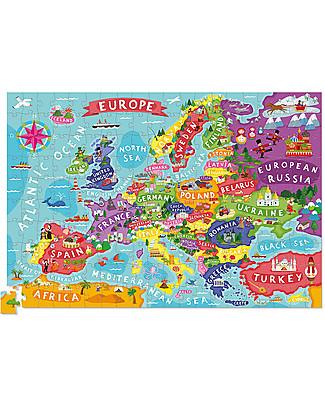 Crocodile Creek Puzzle con Poster - Scopri l'Europa, 200 pezzi! Puzzle
