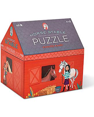 Crocodile Creek Puzzle e Gioco 2-in1, Scuderia dei Cavalli - 48 pezzi! Puzzle