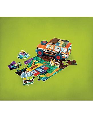Crocodile Creek Puzzle e Gioco 3-in-1, Safari (24 pezzi) Puzzle