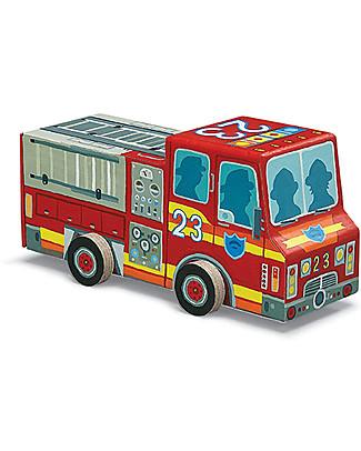 Crocodile Creek Puzzle e Macchinina 2-in-1, Camion dei Pompieri – 48 pezzi! Puzzle