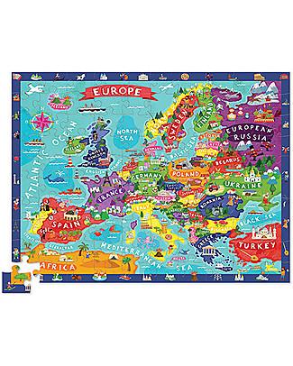 Crocodile Creek Scopri l'Europa - Puzzle 100 pezzi - Contiene 21 personaggi e libro guida! Puzzle