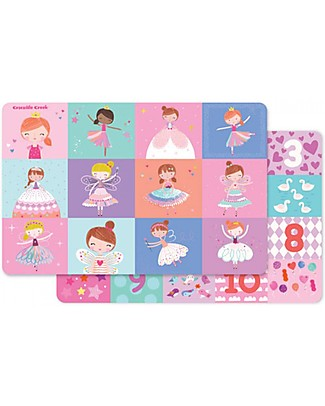 Crocodile Creek Tovaglietta Pappa 2-in-1, Sweet Dreams - 28 x 43,5 cm Set Pappa