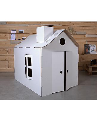 Decoramo Mìcasa, Casa in Cartone Riciclato - Alta 85 cm! Carta e Cartone