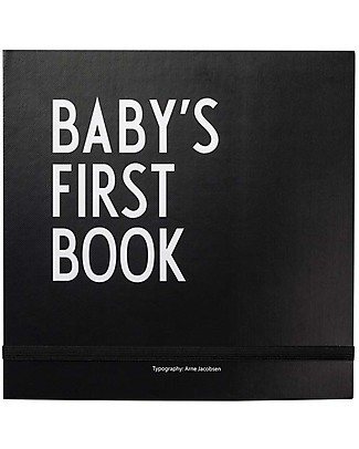 "Design Letters & Friends Baby's First Book, Nero, 25 x 25 cm – Collezione ""AJ Vintage ABC"" by Arne Jacobsen Album Dei Ricordi"