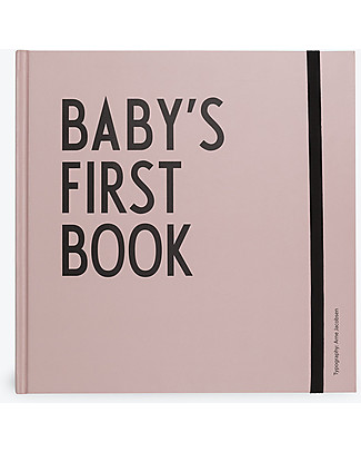 "Design Letters & Friends Baby's First Book, Rosa, 25 x 25 cm – Collezione ""AJ Vintage ABC"" by Arne Jacobsen Album Dei Ricordi"