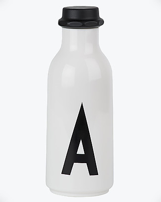 "Design Letters & Friends Bottiglia in Plastica con Lettera, 500 ml, A –Z Collezione ""AJ Vintage ABC"" by Arne Jacobsen Borracce senza BPA"