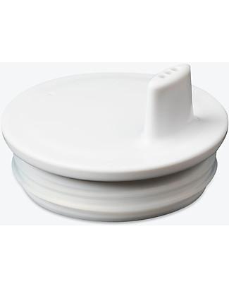 Design Letters & Friends Tappo con Beccuccio per Tazza con Lettera, Bianco – Sippy Cap, facile da usare per i bimbi più piccoli Tazze e Bicchieri