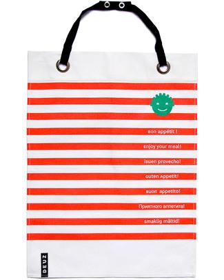 Deuz Bavaglio & Grembiule Cucina Napkid Rosso -100% Cotone Bio Bavagli Classici
