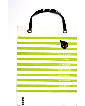 Deuz Bavaglio & Grembiule Cucina Napkid Verde Lime - 100% Cotone Bio Bavagli Classici