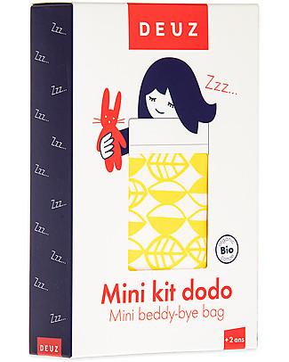 Deuz Lettino per Bambola Mini Kit Dodo, Foglie Gialle - Cotone Bio Giochi Per Inventare Storie