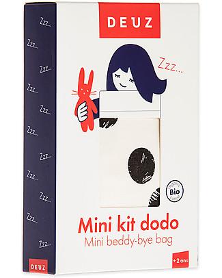 Deuz Lettino per Bambola Mini Kit Dodo Pois Neri - Cotone Bio Giochi Per Inventare Storie