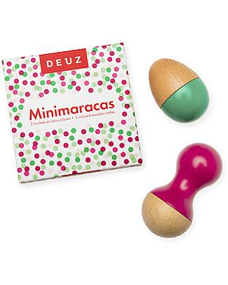 Deuz Minimaracas Set 2 Sonagli, Lili - Legno naturale vernice atossica Giochi Di Una Volta