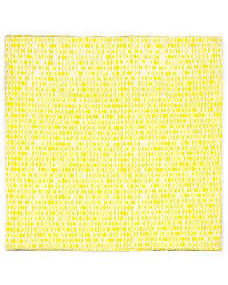 Deuz Tappeto Gioco Matelas, Foglie Gialle - 100% Cotone Bio, 100 x 100 cm Tappeti Gioco