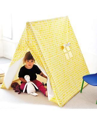 Deuz Tenda Gioco da Campeggio - 1m x 1m x 1m - Cotone Bio - Foglie Gialle Tende Gioco